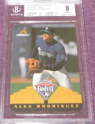 Alex Rodriguez 1997 Pinnacle All-Star FanFest Playing Cards BGS grade 8 1/1 RARE