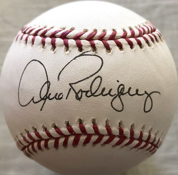 Alex Rodriguez autographed Rawlings MLB baseball (full name signature)