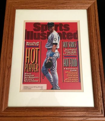 Alex Rodriguez autographed Seattle Mariners 1996 Sports Illustrated cover matted and framed