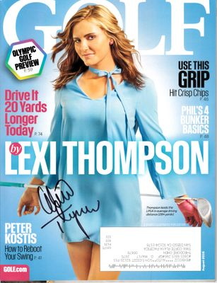 Lexi Thompson autographed 2016 Golf magazine
