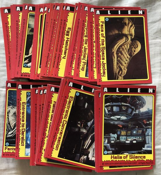 Alien movie 1979 Topps partial set of trading cards (71/84)