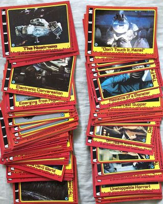 Alien movie 1979 Topps complete set of 84 trading cards