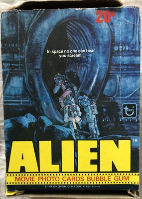 Alien movie 1979 Topps empty wax box