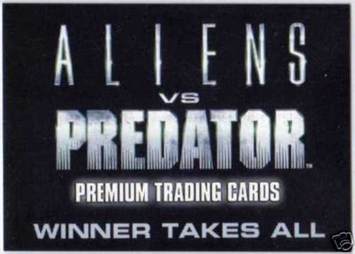 Aliens vs Predator 2007 Comic-Con promo card AP-SD2007