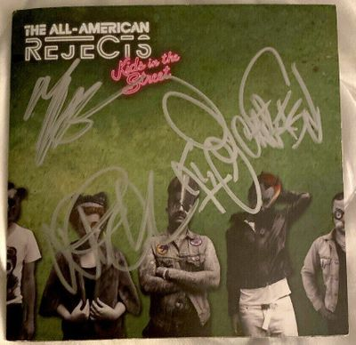 All-American Rejects complete group autographed Kids in the Street CD booklet