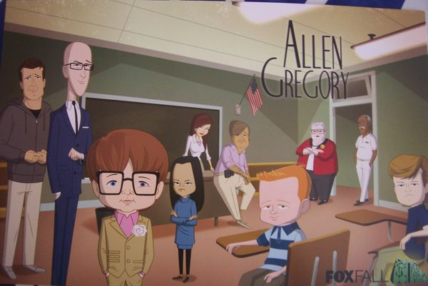 Allen Gregory 2011 Comic-Con Fox promo poster MINT