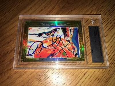 Allen Iverson 2016 Leaf Masterpiece Cut Signature certified autograph card 1/1 JSA