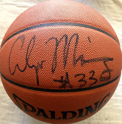 Alonzo Mourning autographed Spalding NBA game model basketball