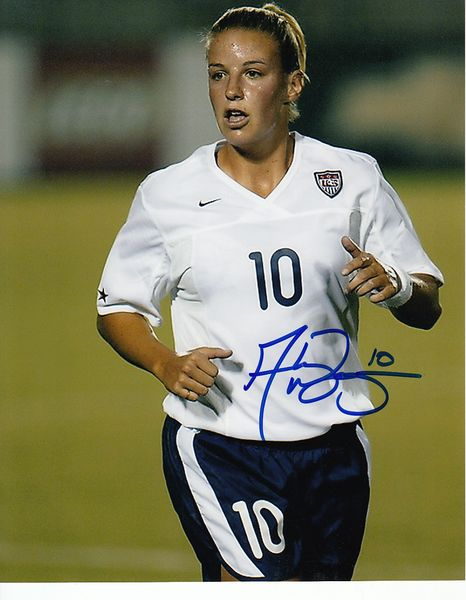 Aly Wagner autographed U.S. Soccer 8x10 photo