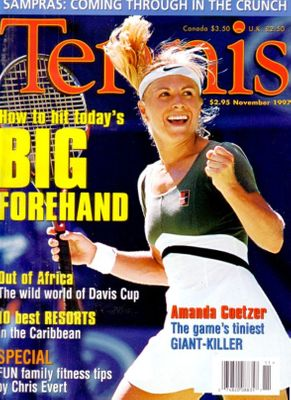 Amanda Coetzer November 1997 Tennis magazine issue NO LABEL MINT
