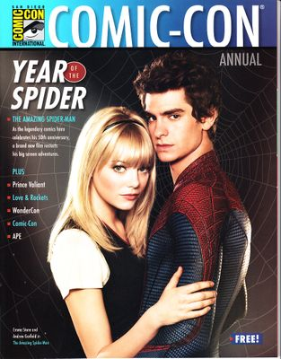 Amazing Spider-Man movie 2012 San Diego Comic-Con magazine (Andrew Garfield and Emma Stone)