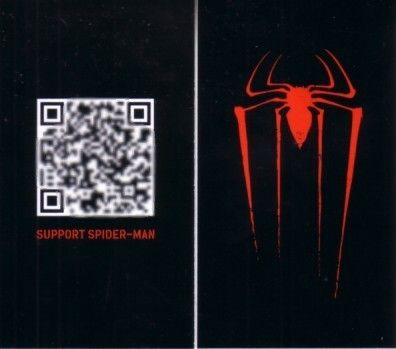 Amazing Spider-Man movie 2012 Wondercon promo Support Spider-Man QR code card MINT