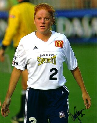 Amy Sauer autographed WUSA San Diego Spirit 8x10 photo