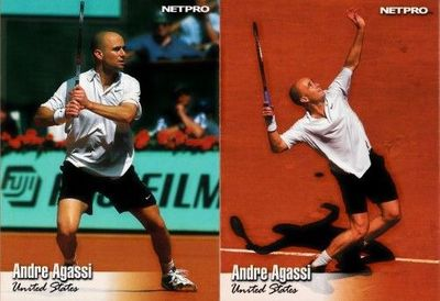 Andre Agassi set of 2 2003 NetPro tennis cards