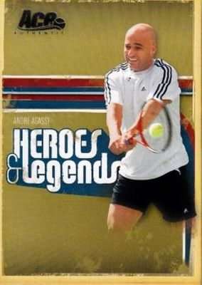 Andre Agassi 2006 Ace Authentic Heroes & Legends card