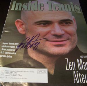 Andre Agassi autographed 2006 Inside Tennis magazine