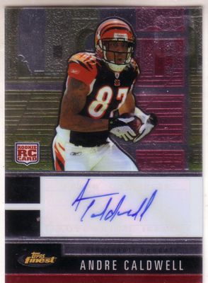 Andre Caldwell certified autograph 2008 Topps Finest Rookie Card