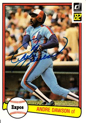 Andre Dawson autographed Montreal Expos 1982 Donruss card