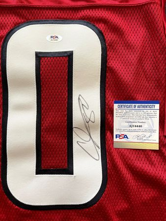 Andre Johnson autographed Houston Texans authentic Reebok stitched red jersey (PSA/DNA)