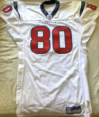 Andre Johnson Houston Texans 2003 ROOKIE SEASON authentic Reebok team issued stitched white jersey NEW