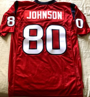 Andre Johnson Houston Texans authentic Reebok red stitched MEDIUM jersey NEW