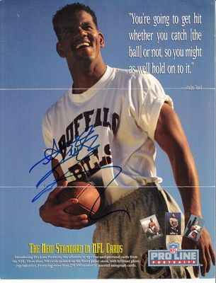 Andre Reed autographed Buffalo Bills 1991 Pro Line 8 1/2 x 11 promotional photo