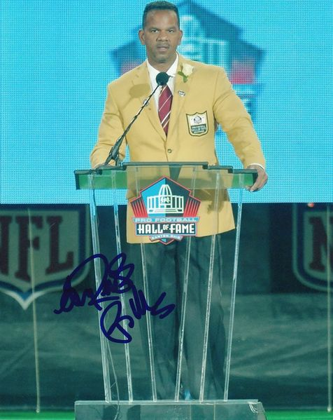 Andre Reed autographed Pro Football Hall of Fame 8x10 photo