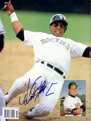 Andres Galarraga autographed Colorado Rockies Beckett Baseball back cover photo
