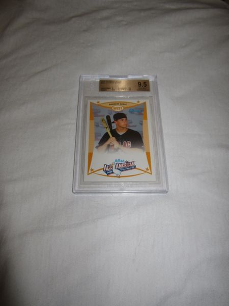 Andrew Susac 2008 AFLAC Bowman Topps Rookie Card graded BGS 9.5 GEM MINT