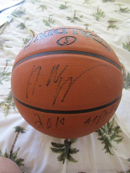 Andrew Wiggins autographed Spalding NBA outdoor basketball inscribed 2014 #1 Pick