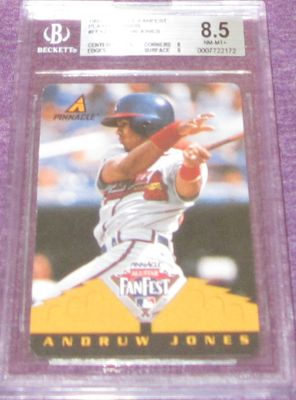 Andruw Jones 1997 Pinnacle All-Star FanFest Playing Cards BGS grade 8.5 RARE 1/1
