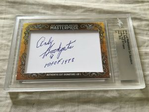 Andy Bathgate 2019 Leaf Masterpiece Cut Signature certified autograph card 1/1