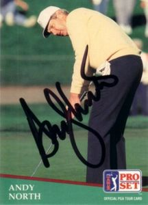 Andy North autographed 1991 Pro Set golf card