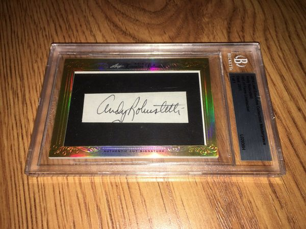 Andy Robustelli 2014 Leaf Masterpiece Cut Signature certified autograph card 1/1
