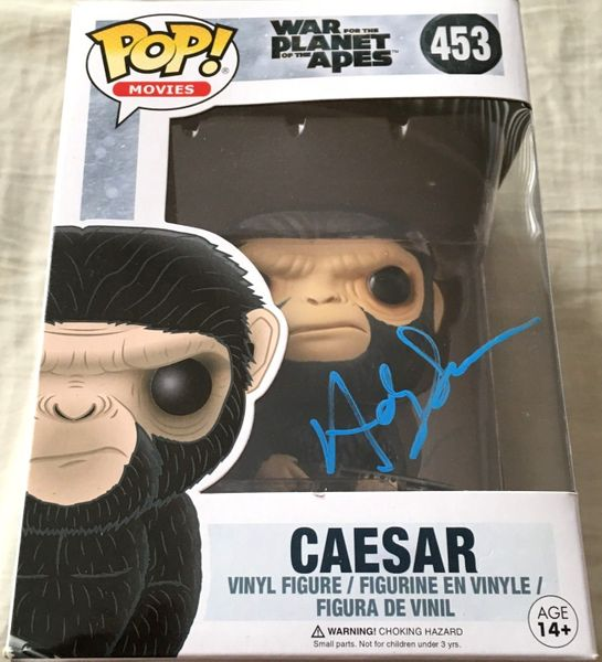 Andy Serkis autographed Caesar War for the Planet of the Apes Funko Pop (JSA)