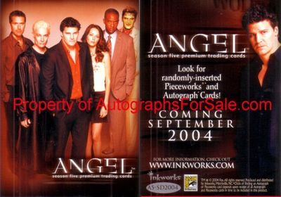 Angel Season 5 2004 San Diego Comic-Con Inkworks promo card A5-SD2004