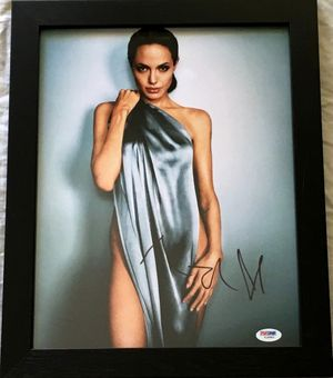 Angelina Jolie autographed sexy 11x14 inch photo framed (PSA/DNA)