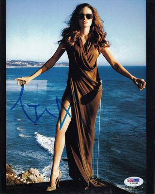 Angelina Jolie autographed sexy 8x10 photo (PSA/DNA)