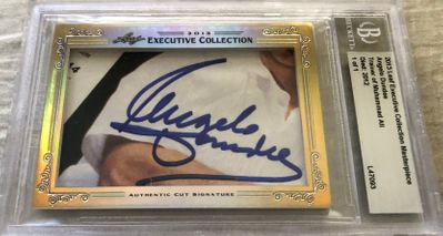 Angelo Dundee 2013 Leaf Masterpiece Cut Signature certified autograph card 1/1 JSA (Muhammad Ali trainer)