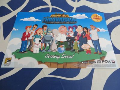 Animation Throwdown Quest for Cards 2016 Comic-Con 11x17 poster #/2000 (Bob's Burgers Family Guy Futurama King of the Hill)