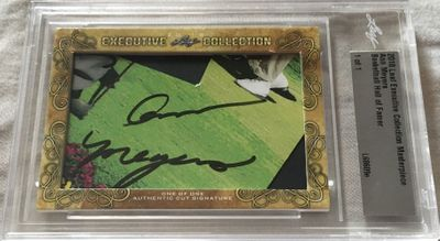 Ann Meyers 2018 Leaf Masterpiece Cut Signature certified autograph card 1/1 JSA