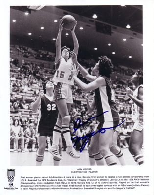 Ann Meyers autographed UCLA Bruins 8x10 black & white photo