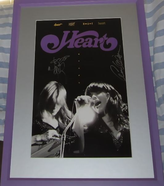 Ann Wilson and Nancy Wilson autographed HEART 11x17 poster matted and framed
