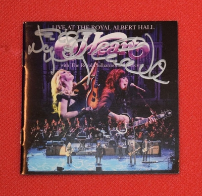 Ann Wilson and Nancy Wilson autographed Heart Live at Royal Albert Hall CD booklet