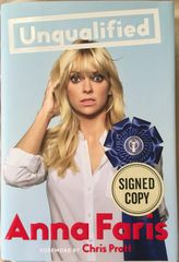 Anna Faris autographed Unqualified hardcover first edition book
