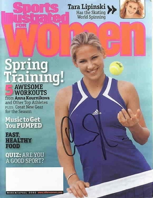 Anna Kournikova autographed 2000 Sports Illustrated for Women magazine