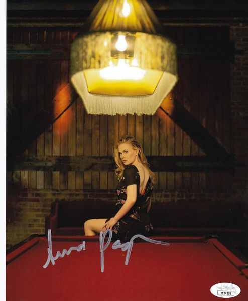 Anna Paquin autographed sexy 8x10 pool table photo (JSA)
