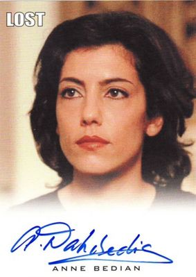Anne Bedian LOST 2010 Rittenhouse certified autograph card
