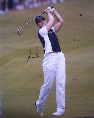 Annika Sorenstam autographed 2003 Colonial 16x20 poster size golf photo