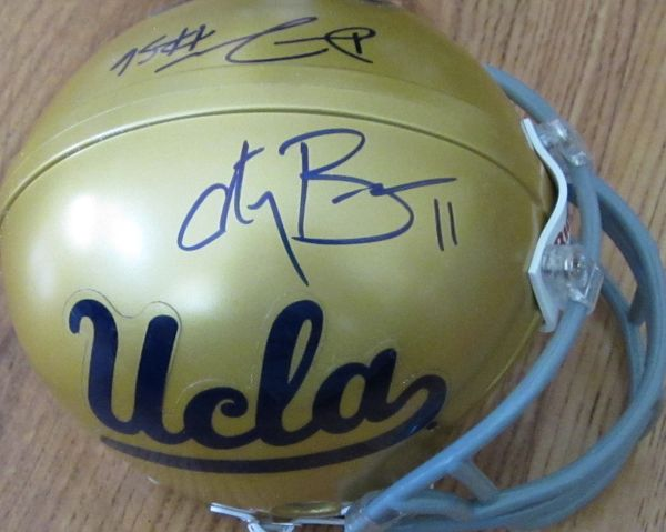 Anthony Barr and Datone Jones autographed UCLA Bruins mini helmet